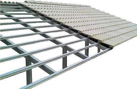 Aplicação Steel Frame em telhado