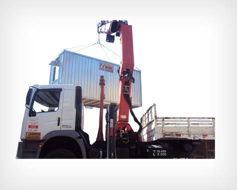 Caminhão Munck transporte de container