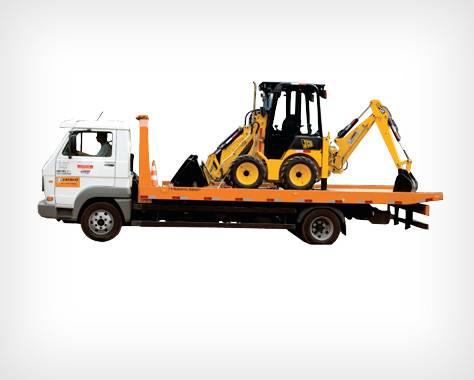 Caminhão para transporte de veículos e máquinas
