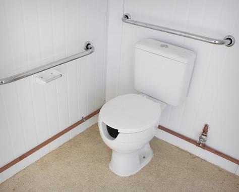 Interior Container Sanitário PNE
