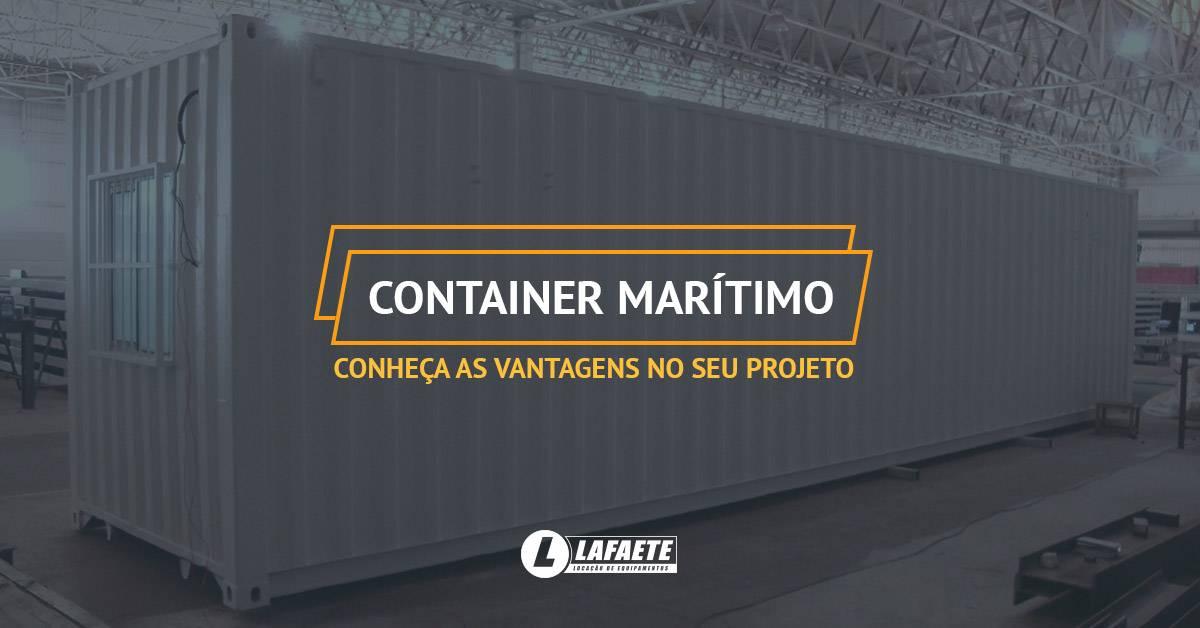Container marítimo: conheça as vantagens no seu projeto