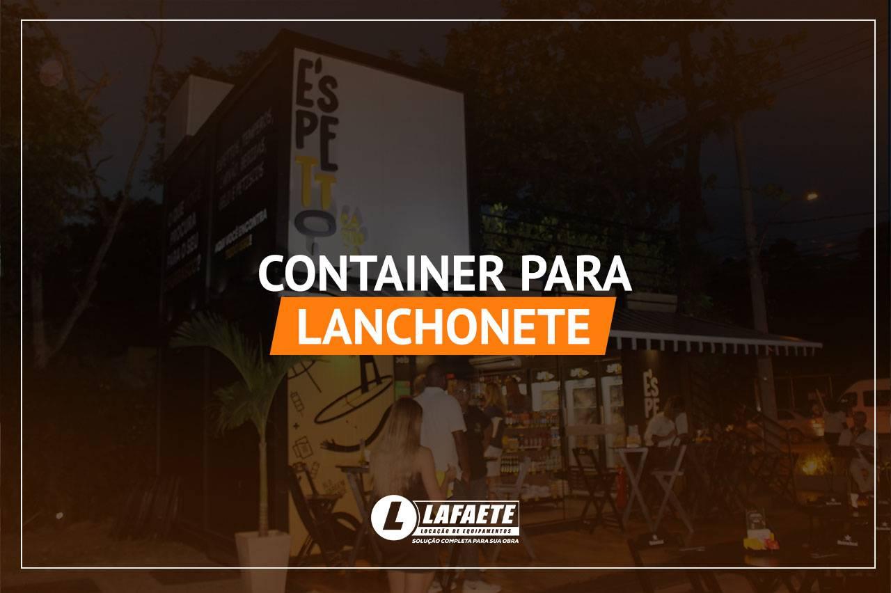 Container para lanchonete: praticidade e inovação