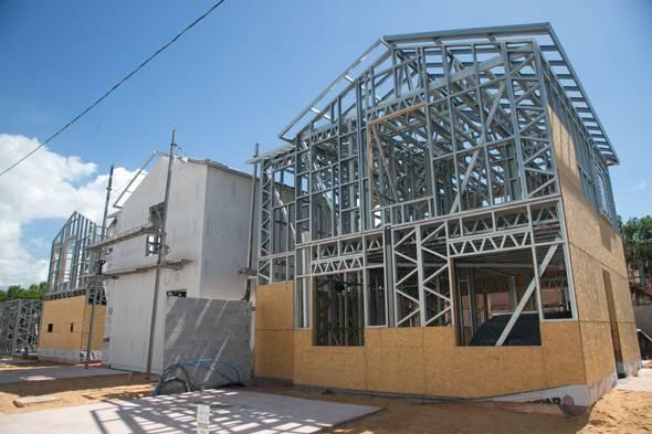 sistema construtivo: Steel Frame da Lafaete