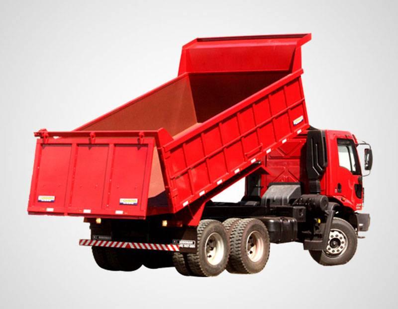 máquinas pesadas caçamba em caminhão basculante