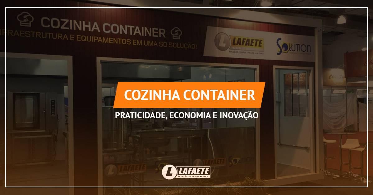 Cozinha container: praticidade, economia e inovação