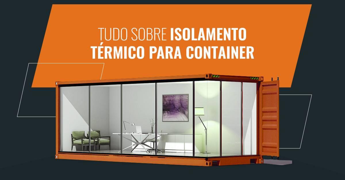 isolamento termico container