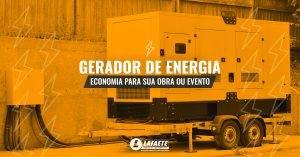 Gerador de energia, economia para sua obra ou evento