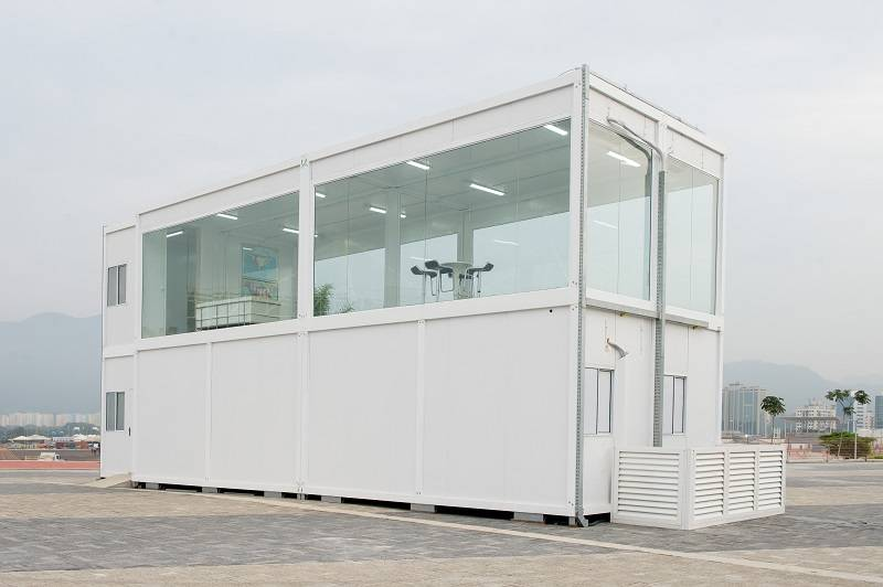 Instalação feita de container reciclado para o Parque Olímpico