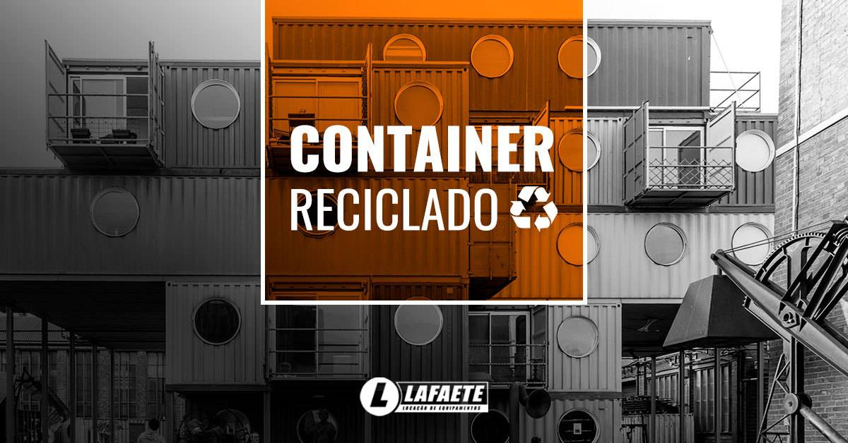 Container reciclado, uma forma econômica de fazer seu projeto