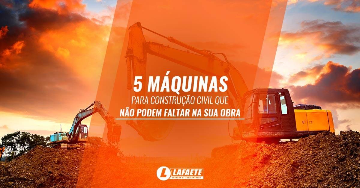 Máquinas para construção civil