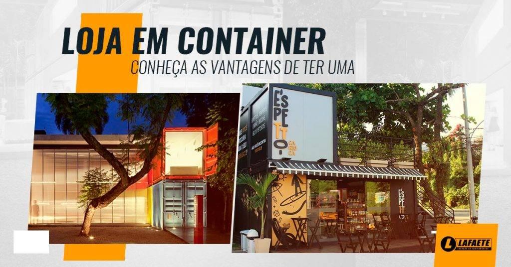 Projetos de lojas em container