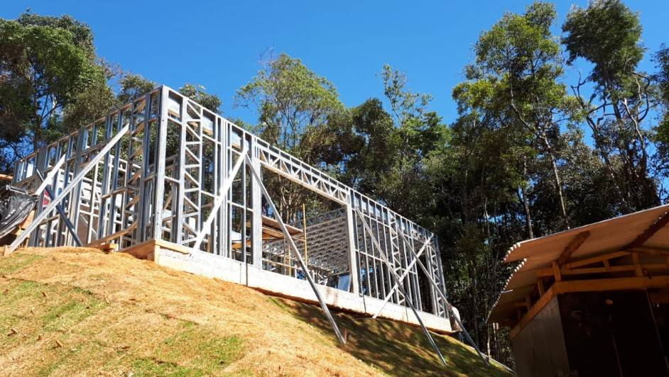 Casa feita em Light steel frame