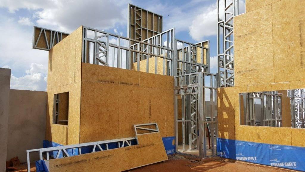 Estrutura em steel frame
