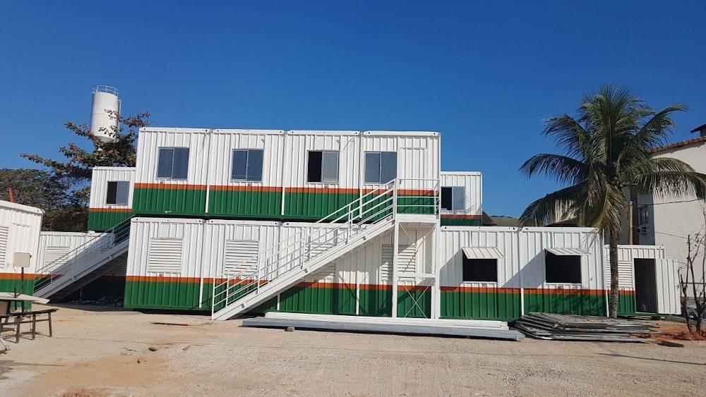 Estrutura de containers para canteiros de obras oferecida pela Lafaete