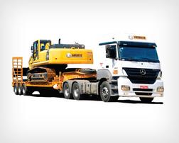 locação de carreta prancha para transporte de máquinas pesadas