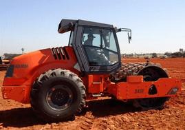 máquinas pesadas rolo compactador