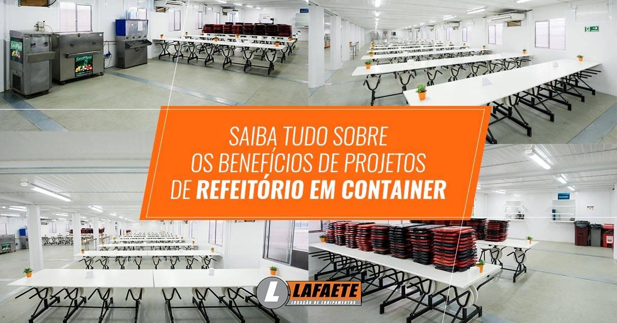 Projetos de refeitório em container