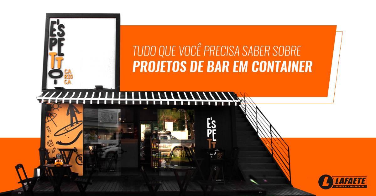 Projetos de bar em container