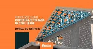 Estrutura de telhado em steel frame