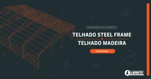 Download gratuito do infográfico comparativo entre o telhado steel frame e o telhado madeira