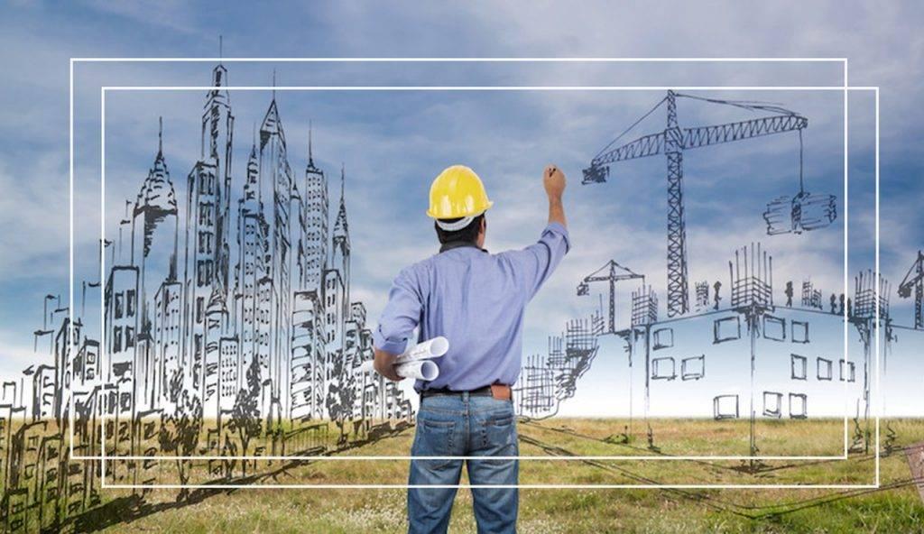 Imagem simulando um Egenheiro utilizando a Tecnologia BIM na construção civil.