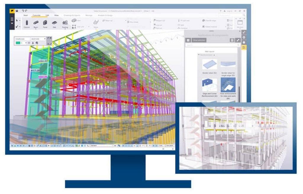 Exemplo da visualização da Tecnologia Bim na construção civil em tela.