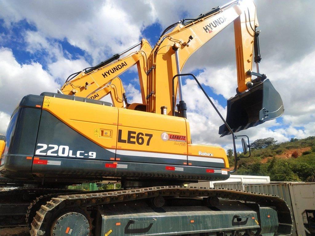 máquinas pesadas escavadeira hidraúlica