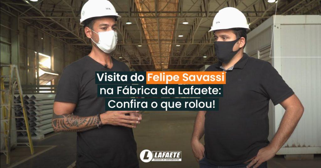 felipe savassi, arquiteto referência em construção modular, visitou a fábrica da Lafaete em São Paulo