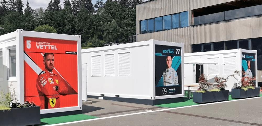 Construção modular - Paddocks da Fórmula 1