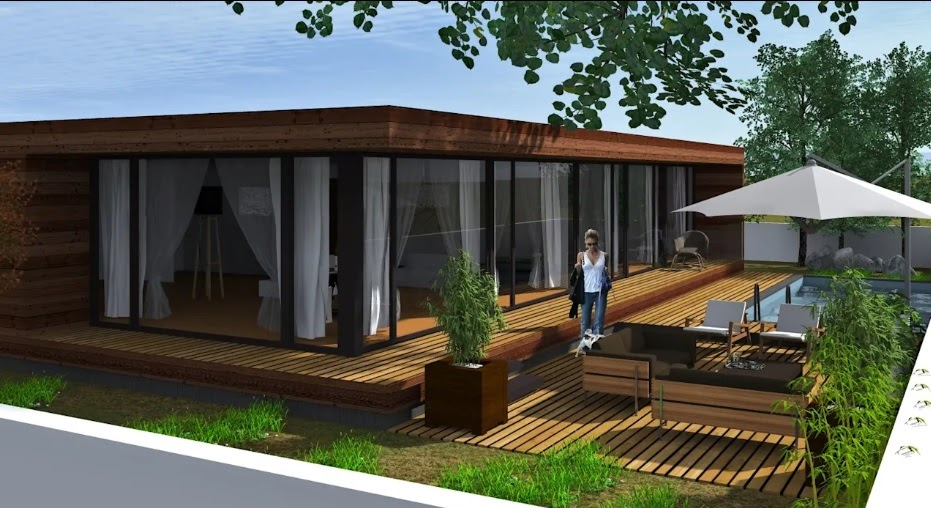 Construções modulares verdes - Lethes House