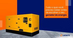 Comprar gerador de energia