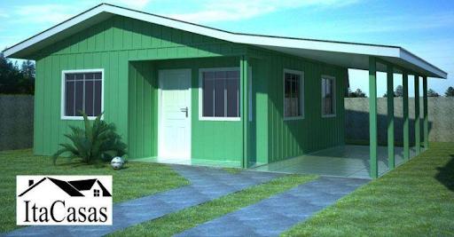 Casas pré-fabricadas - Casa pré-fabricada de madeira